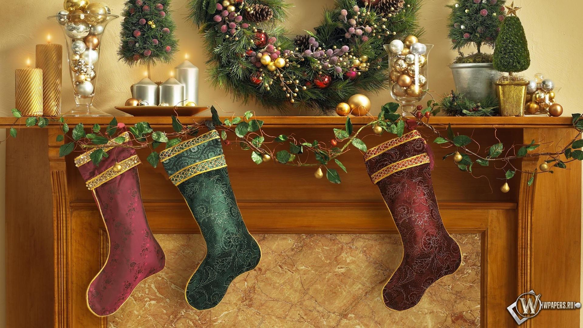 Рождественские носки 1920x1080