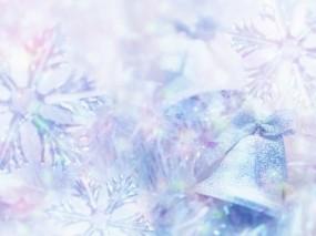 Обои Снежинки и колокольчики: Снежинки, Колокольчик, Новый год, Новый год