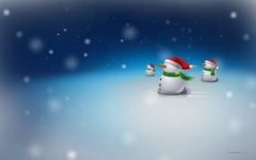 Обои Снеговики: Снег, Новый год, Снеговики, Новый год