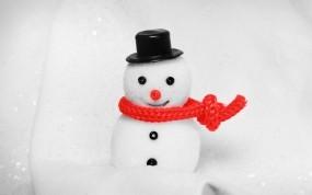 Обои Снеговик: Игрушка, Праздник, Снеговик, Новый год