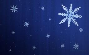 Обои Снежинки: Снежинки, Новый год, Узор, Новый год