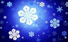 Обои Снежинки: Снежинки, Синий, Праздник, Новый год