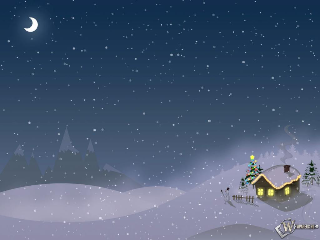 Обои новый год зима снег новый год