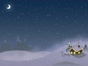 Обои Новый год: Зима, Снег, Новый год, Дом, Новый год