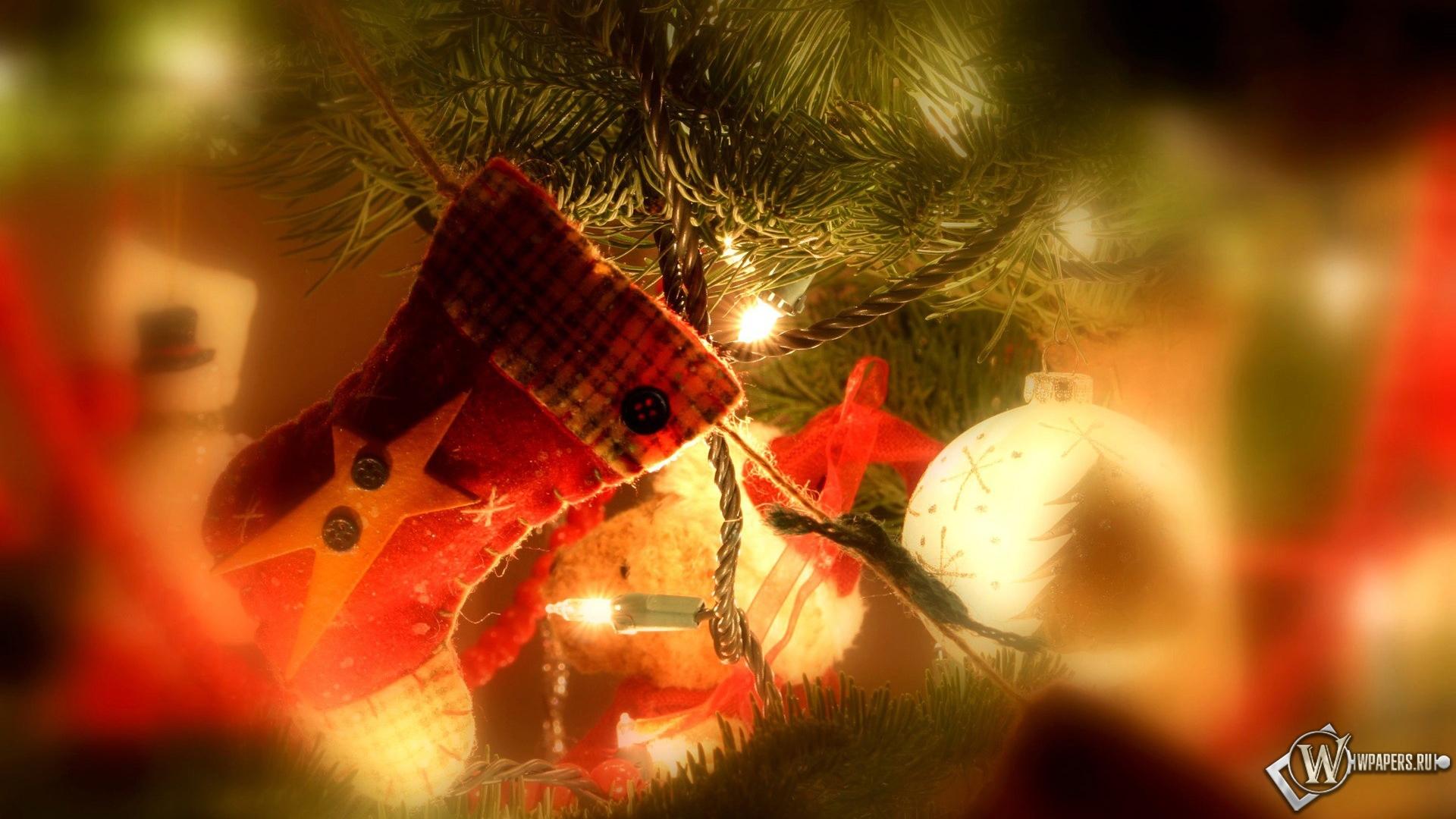 Украшение в новый год носок новогодний