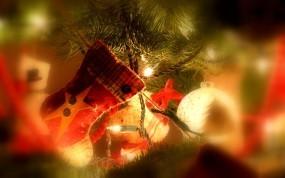 Обои Новогодний носок: Новый год, Рождество, Праздник, Украшение, Носок, Новый год