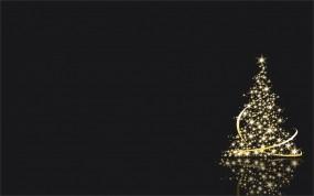 Обои Елка: Огни, Вектор, Елка, Новый год