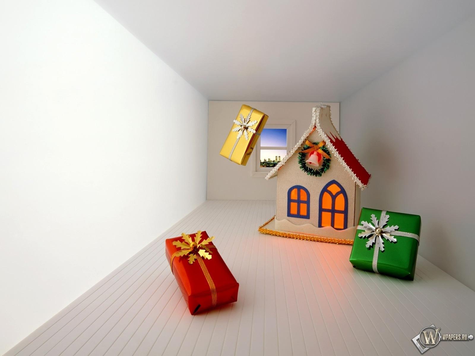 Рождественские подарки 1600x1200