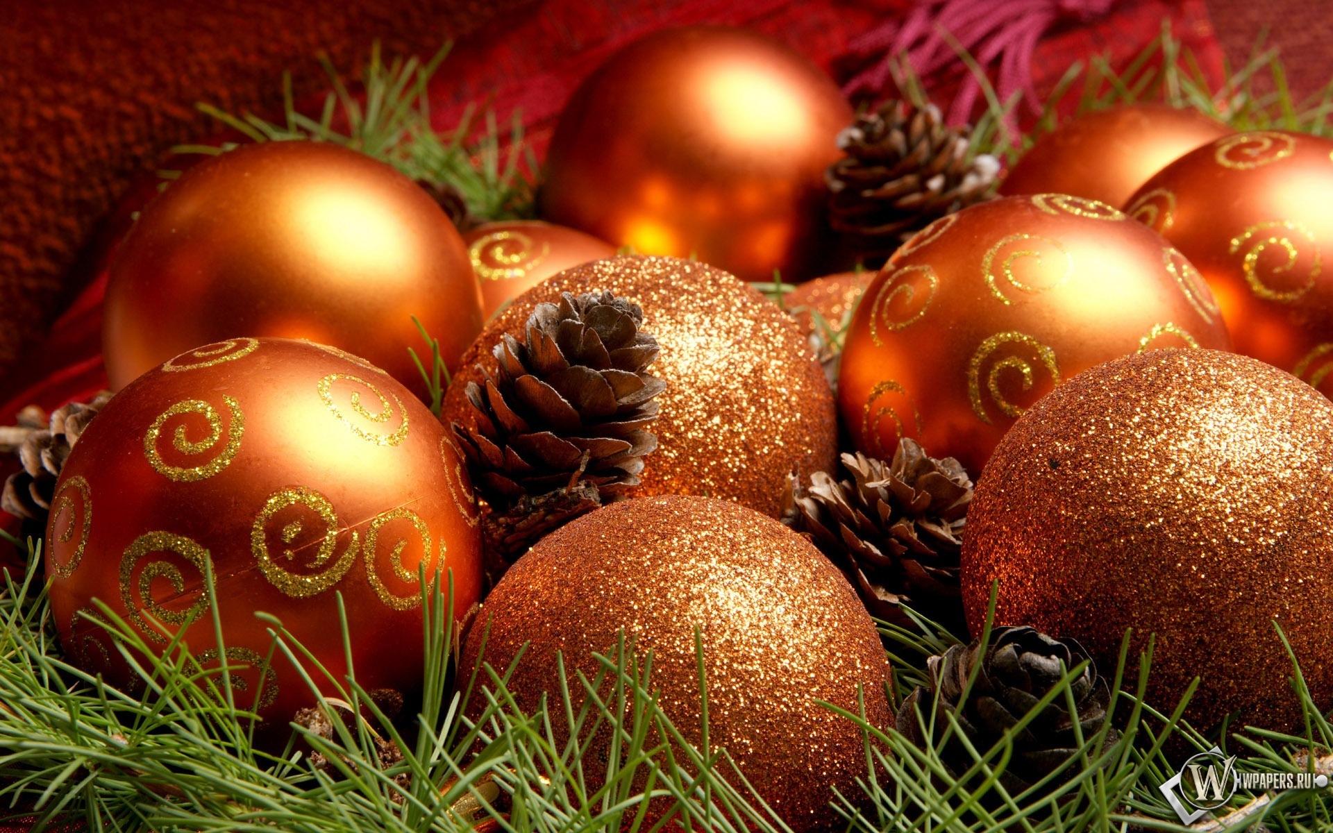 Рождественские шарики 1920x1200
