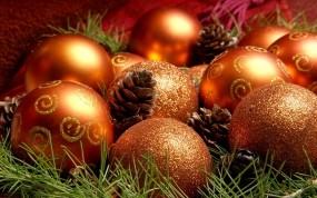 Обои Рождественские шарики: Шарики, Рождество, Праздник, Новый год