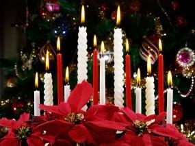 Обои Рождественские свечи: Свечи, Рождество, Праздник, Новый год