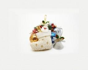 Обои Christmas stuff: Минимализм, Шарики, Рождество, Праздник, Носок, Новый год