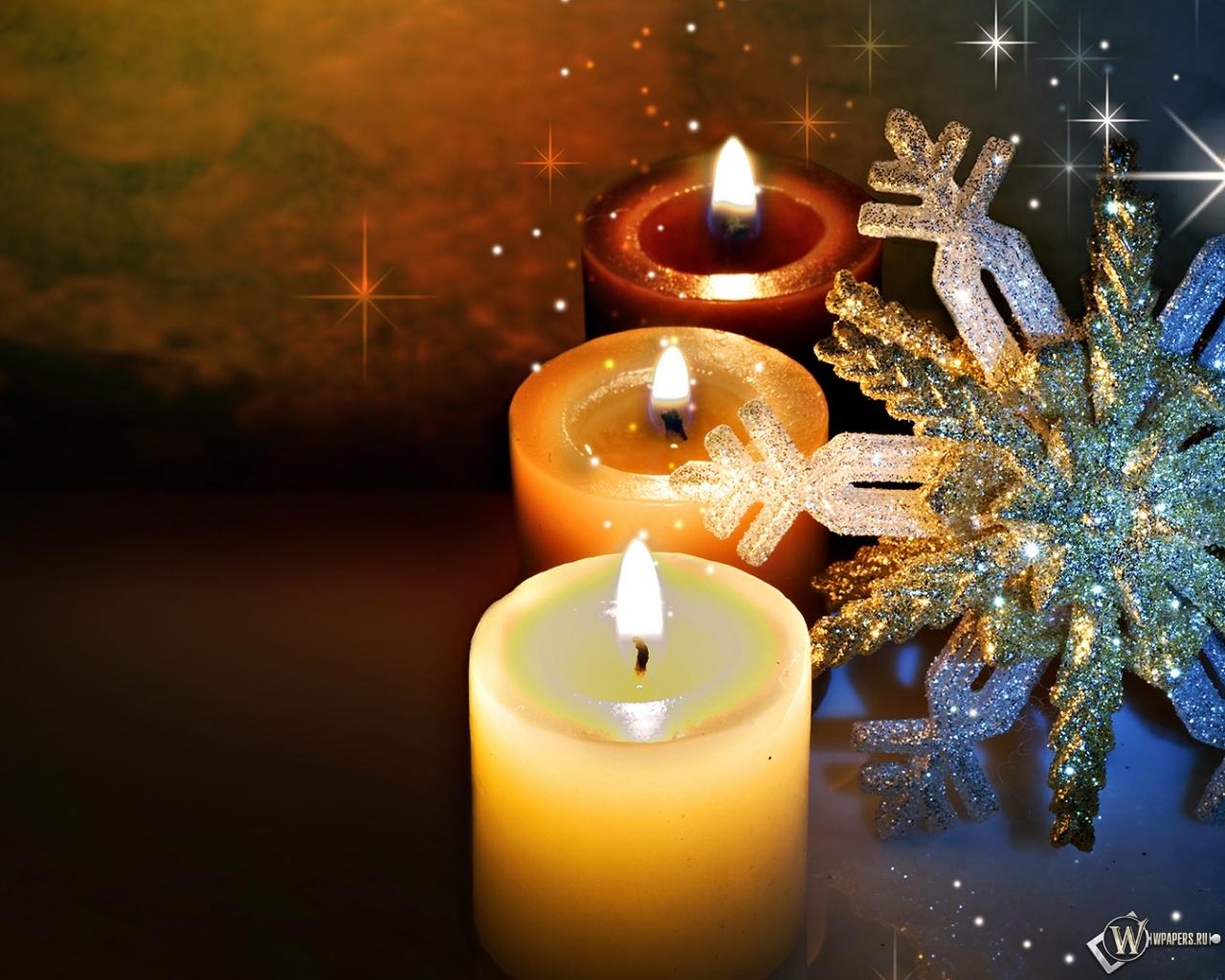 Обои новогодние свечи свечи новый