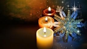 Обои Новогодние свечи: Свечи, Новый год, Снежинка, Новый год