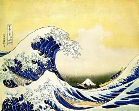 Обои Японская волна: Лодки, Волна, Япония, Вода