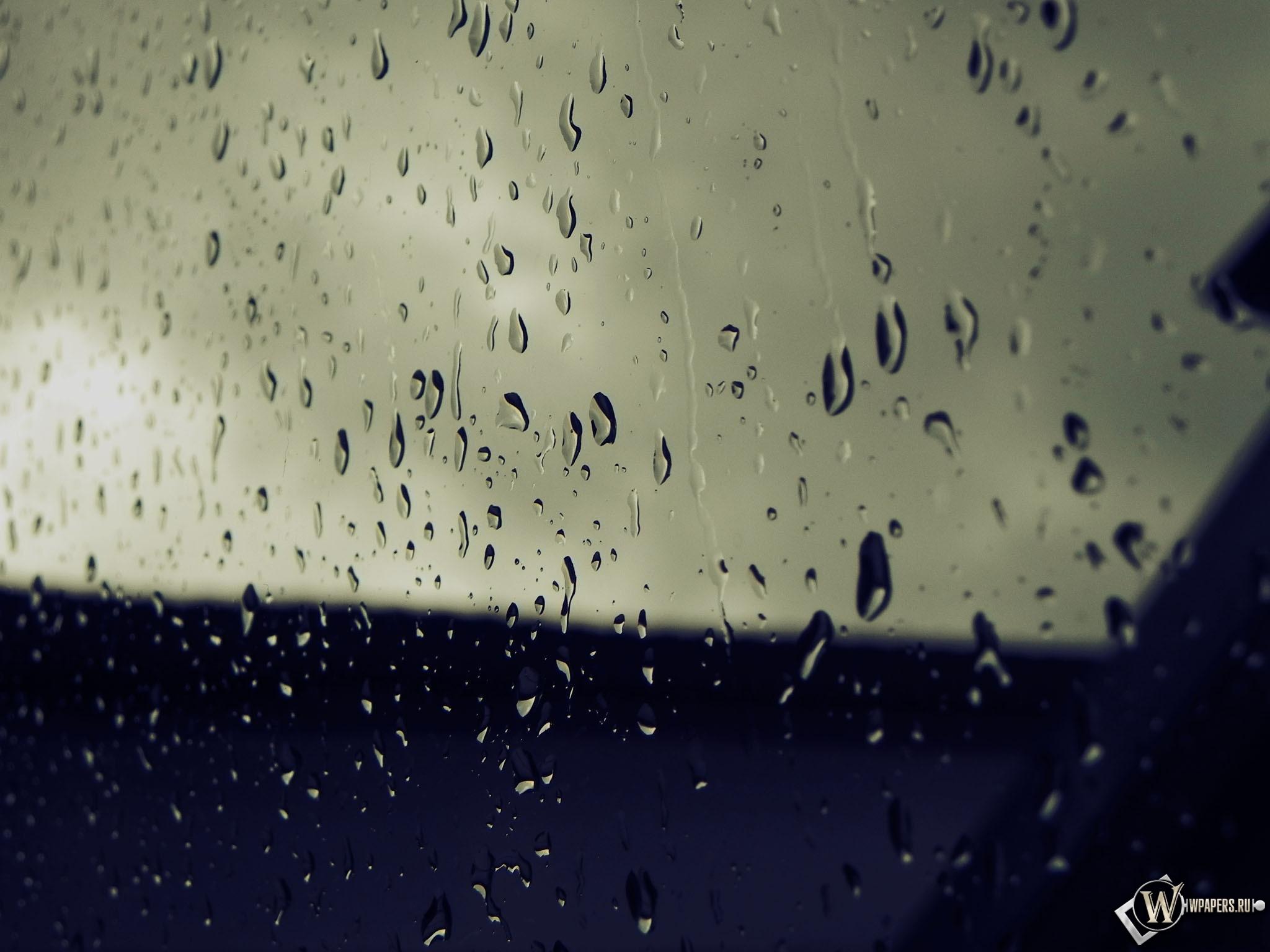 Дождь на стекле 2048x1536