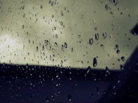 Обои Дождь на стекле: Стекло, Капли, Дождь, Осень, Вода