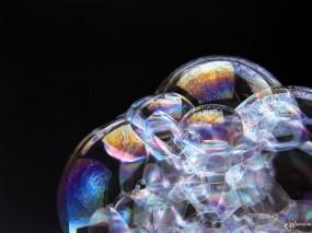 Обои Мыльные пузыри: , Вода