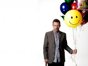 Обои Hugh Laurie: Белый, Шарики, Хью Лори, Hugh Laurie, House, Мужчины
