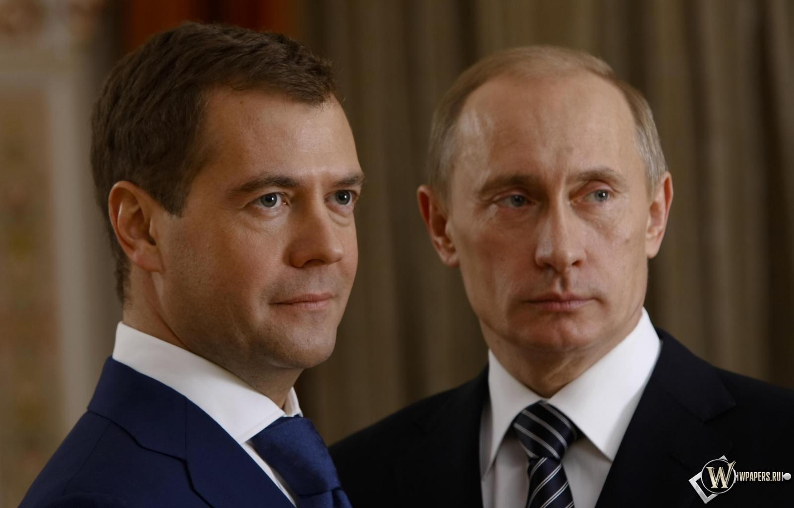 Обои путин с медведевым на рабочий