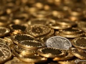 Обои Блеск Монет: Золотые монеты, Серебряные монеты, Казна, Деньги