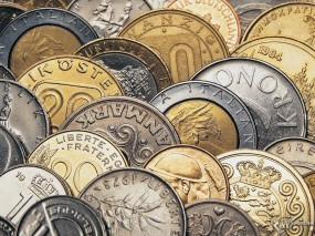 Обои Монеты: Форинты, Лиры, Коллекция, Деньги
