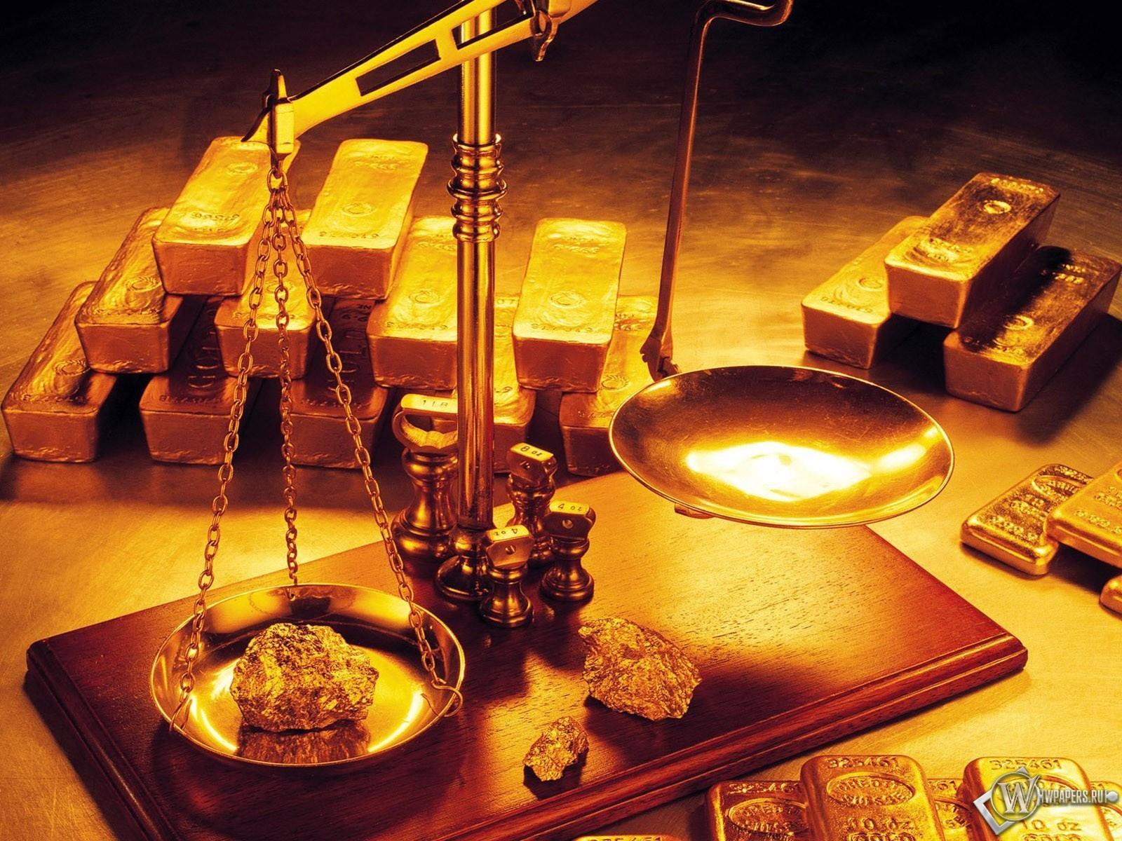 Обои золото на весах на рабочий стол с