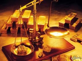 Обои Золото на весах: Весы, Золотая руда, Золото, Драгоценный металл, Деньги