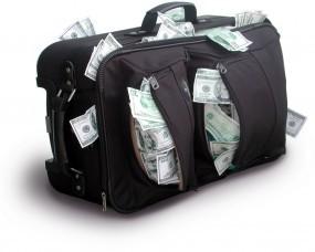 Обои Сумка с валютой: Доллары, Деньги, Сумка, Баксы, $$$, Валюта, Деньги