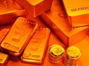 Обои Золотые слитки и монеты: Золотой запас, Золото, Золотые монеты, Слитки золота, Монеты, Деньги