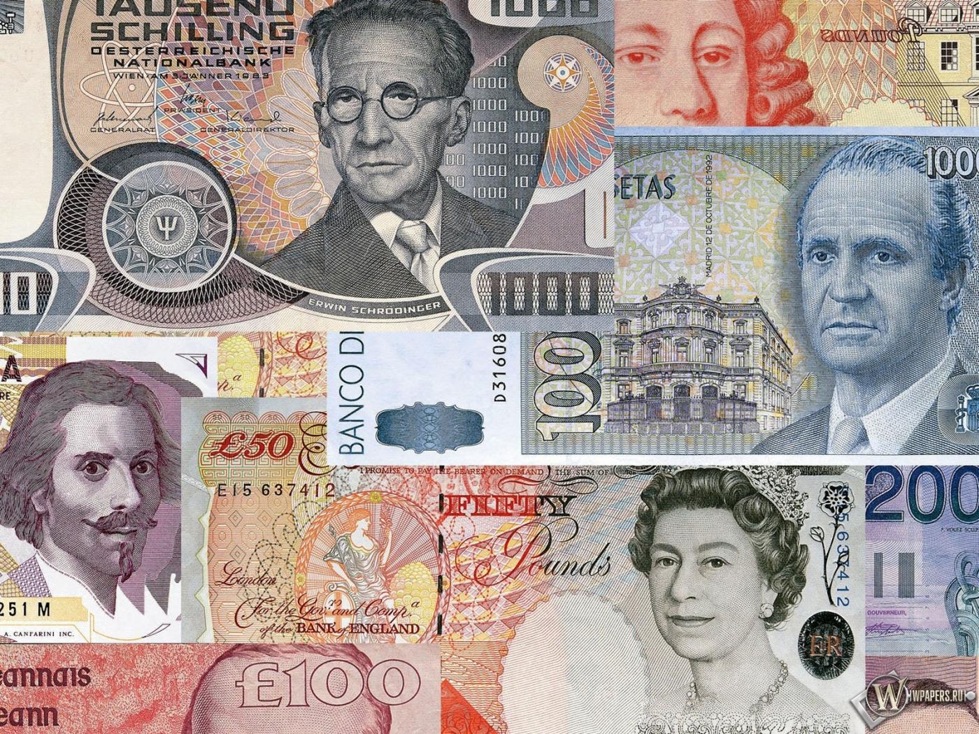 Обои разные деньги банкноты купюры
