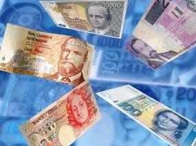 Обои Денежный дождь: Банкноты, Купюры, Деньги, Валюта, Деньги