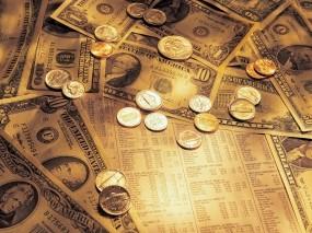 Обои Доллары США: Металл, Богатство, Купюры, Доллары, Деньги, Валюта, Железо, Монеты, Деньги