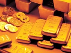 Обои Содержимое сейфа: Золотые слитки, Золото, Слитки золота, Слитки, Деньги
