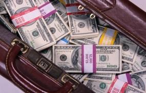 Обои Сумка с деньгами: Доллары, Деньги, Сумка, Куча, Деньги