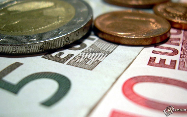 Бумажные и металлические евро 1440x900