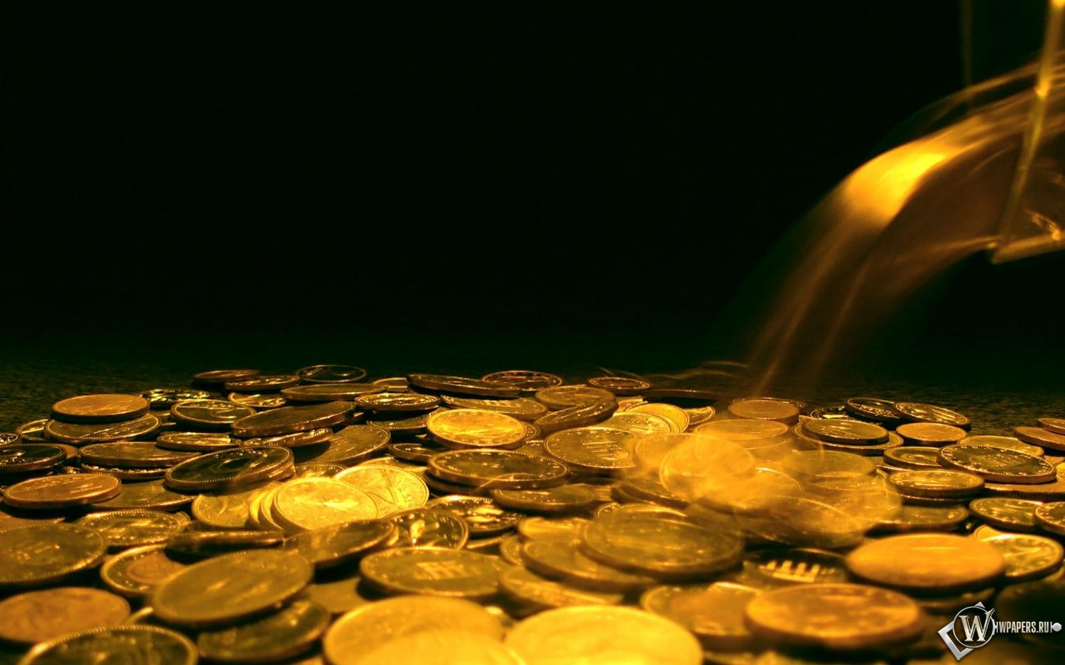 Обои падающие деньги золото деньги