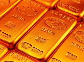Обои Gold: Золотой запас, Золотые слитки, Золото, Оранжевый, Деньги
