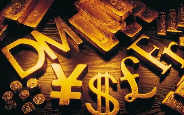 Золотые денежные знаки
