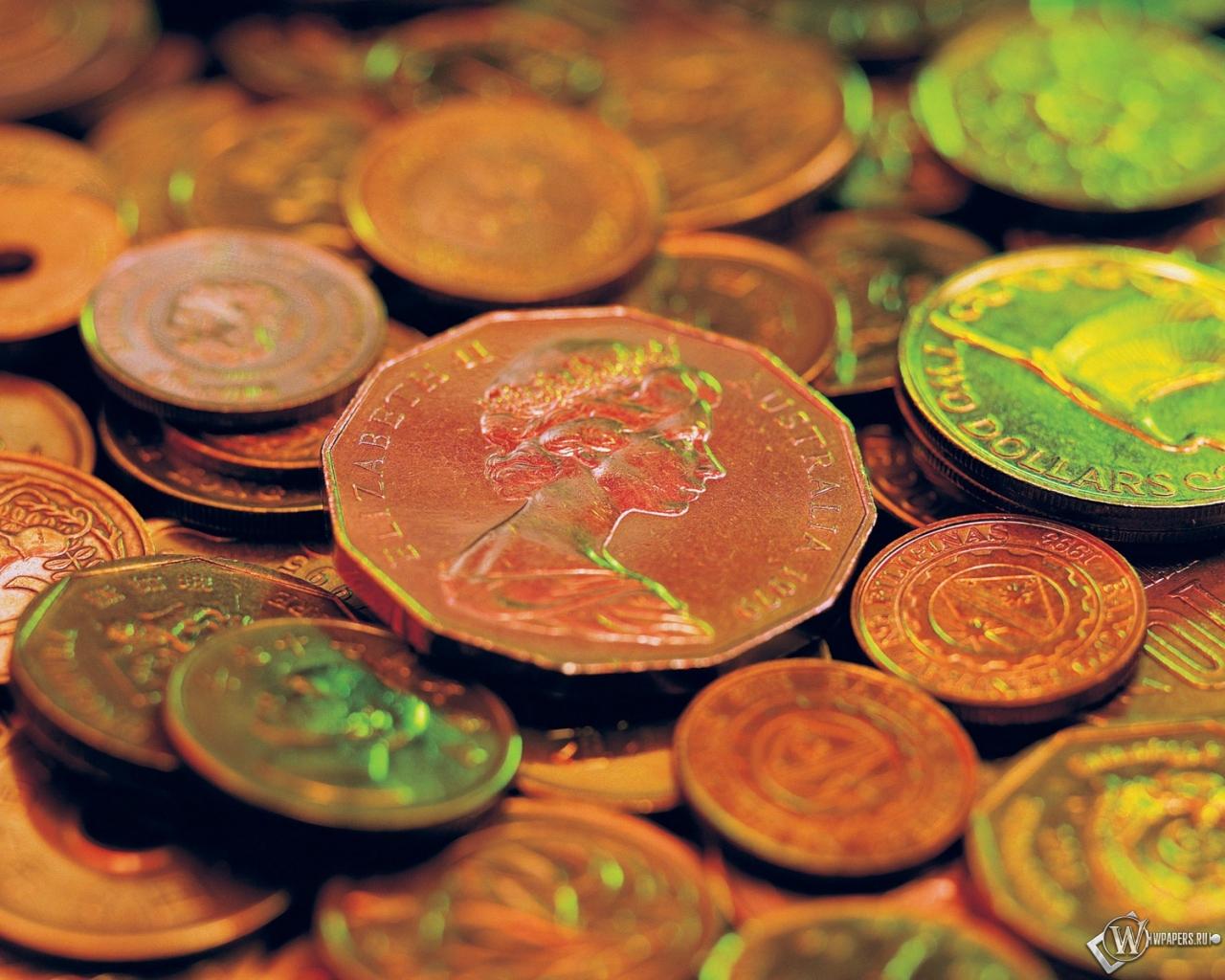 Обои старые монеты на рабочий стол с