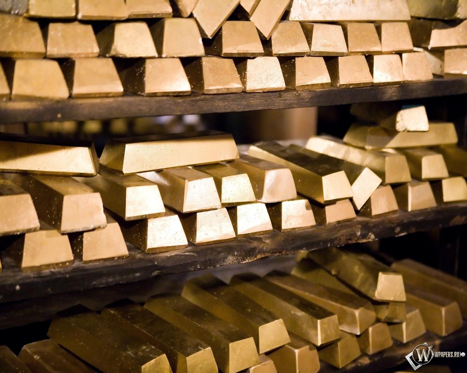 Обои золотые слитки на рабочий стол с