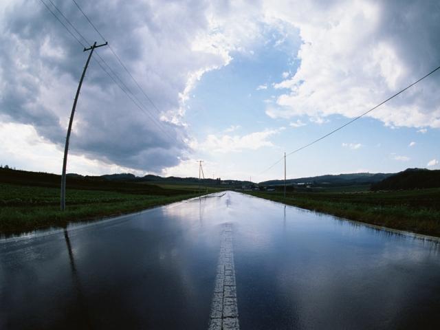 Дорога после дождя