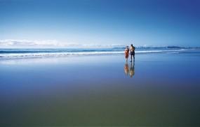 Обои Пара на пляже: Пляж, Песок, Океан, Пара, Настроения