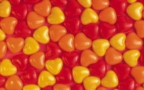 Обои Разноцветные сердечки: Любовь, Сердечки, камешки, Настроения