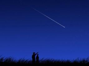 Обои Падают звёзды: Ночь, Звезда, Люди, Настроения