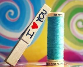 Обои Love you: Любовь, нитки, бренд, Настроения