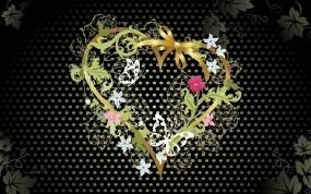 Обои Сердце с цветами: Цветок, Сердце, Настроение, Настроения