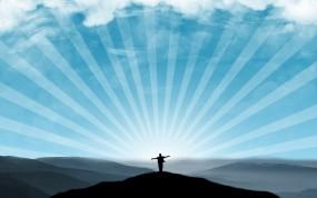 Обои Свобода: Свобода, Человек, Небо, Лучи, Настроения