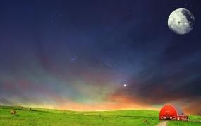Обои Ночь в степи: Ночь, Небо, Степь, Настроения