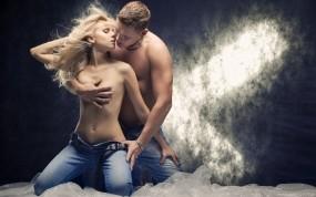 Обои Страсть и любовь: Девушка, Романтика, Любовь, Парень, Настроения
